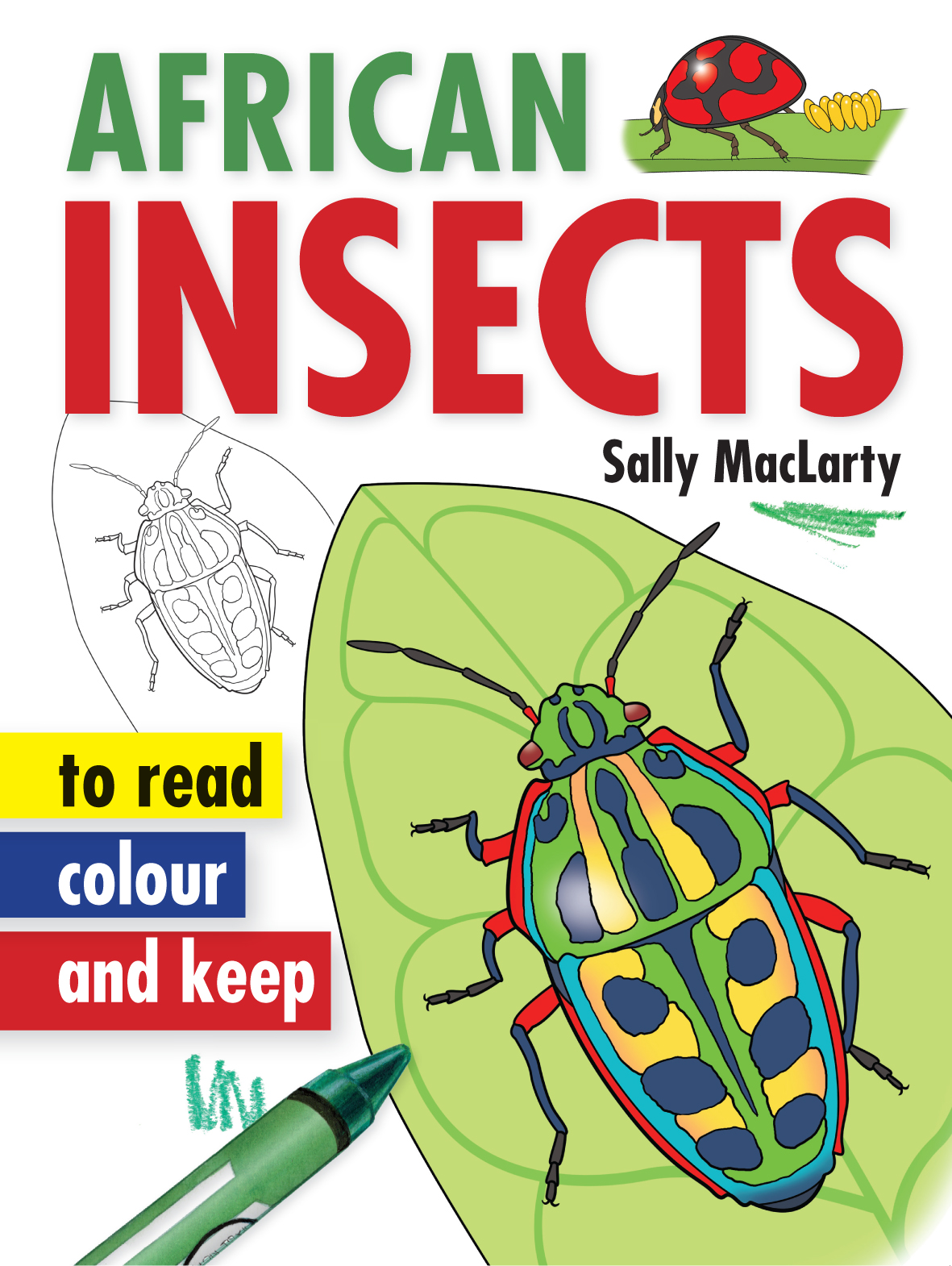 African Insects - to read, colour and keep