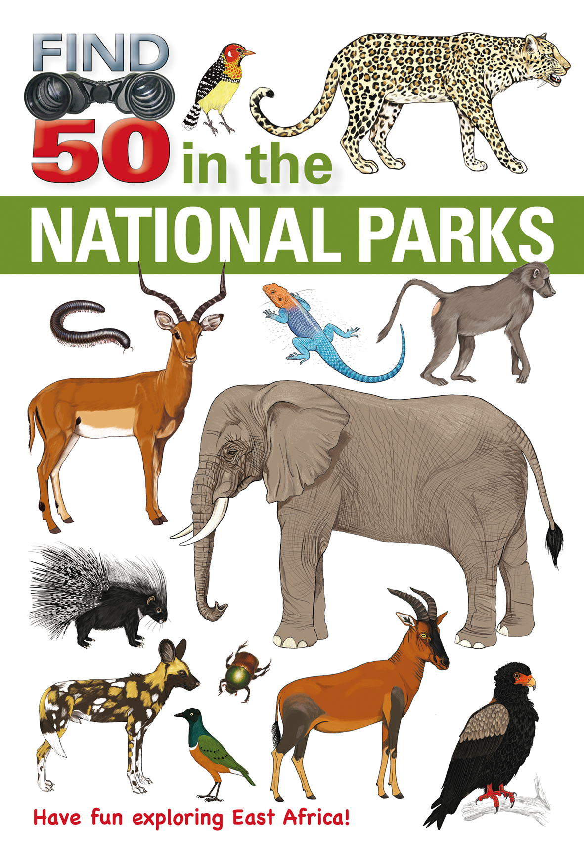 Find 50 in the National Parks of East Africa